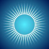 Abstract bright dotted sun background Stock Image