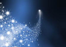 Abstract Bright Falling Star - Shooting Star with Twinkling Star Royalty Free Stock Photography
