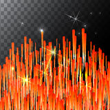 Abstract Bright Falling Star - Shooting  with Twinkling  Trail on transparent Background - Meteoroid, Comet, Asteroid - Stock Images