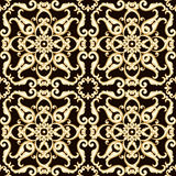 Abstract bright floral seamless pattern in brown color. Vector illustration Stock Photos