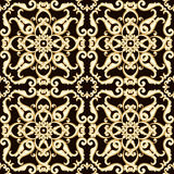 Abstract bright floral seamless pattern in brown color. Vector illustration Royalty Free Stock Image