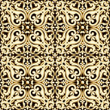 Abstract bright floral seamless pattern in brown color. Vector illustration Royalty Free Stock Images