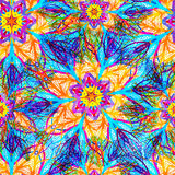 Abstract bright floral seamless pattern. Vector illustration, EPS10 Royalty Free Stock Image