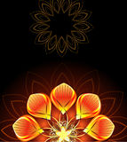 Abstract bright flower royalty free illustration