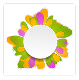 Abstract bright flower vector design Stock Photo