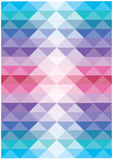Abstract bright flowing triangles vector background Royalty Free Stock Image