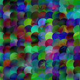 Abstract bright geometric illustration with circles. Colorful  i Royalty Free Stock Photography