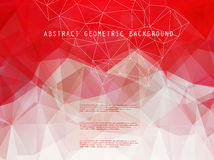 Abstract bright geometric polygonal background Royalty Free Stock Photography
