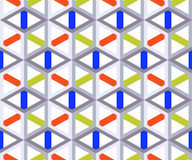 Abstract bright geometric seamless pattern. Cubic structure or lattice on a white background. Stock Image