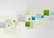 Abstract bright geometric tech background Royalty Free Stock Photos