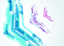 Abstract bright geometrical arrows Stock Photos