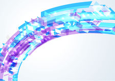 Abstract bright geometrical wave Stock Image