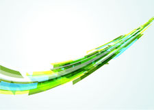 Abstract bright geometrical wave Royalty Free Stock Photos