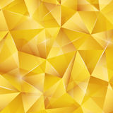 Abstract bright gold pattern from triangles. Royalty Free Stock Images