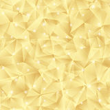 Abstract bright gold pattern from triangles. Stock Photo