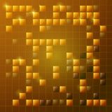 Abstract background in sunny shades of yellow. Rectangular and s. Abstract bright golden background with glass squares. Glitter and beauty. festive background. A Royalty Free Illustration