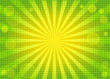 Abstract Bright Green Background With Rays Royalty Free Stock Image