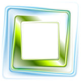 Abstract bright green blue square logo design Stock Photography