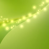 Abstract bright green curve background Stock Photography