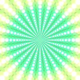 Abstract bright green patterned background. Of ordered circles in the form of rays royalty free illustration
