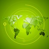 Abstract bright green technology background Royalty Free Stock Photos