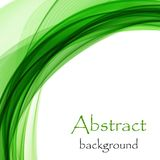 Abstract green bright waves on a white background. Abstract bright green wave in the form of an arc on a white background vector illustration