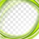 Abstract bright green waves design Royalty Free Stock Photography