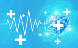 Abstract bright health care concept background. EPS 10 Vector Royalty Free Stock Photos