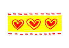 Abstract bright hearts pattern. Bright color pattern with abstract hearts on white vector illustration