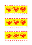 Abstract bright hearts pattern Stock Image