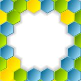 Abstract bright hexagons pattern design. Vector background Stock Photography