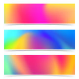 Abstract bright holi colorful cards collection stock illustration