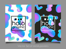 Abstract bright holographic background Stock Photography