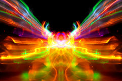 Abstract of bright light streaks Royalty Free Stock Image