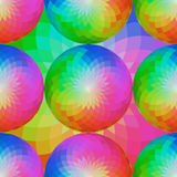 Abstract bright mosaic background. Rainbow concentric mandala. Royalty Free Stock Image