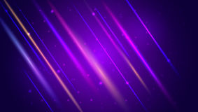 Abstract bright motion background with blurred light rays and lens flare. Dynamic digital, technology backdrop for Royalty Free Stock Photos