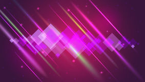 Abstract bright motion background with blurred light rays and lens flare. Dynamic digital, technology backdrop for Stock Photos