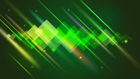 Abstract bright motion background with blurred light rays and lens flare. Dynamic digital, technology backdrop for Royalty Free Stock Photo