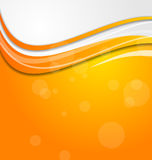 Abstract bright orange background with circles Royalty Free Stock Image