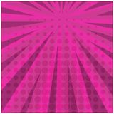 Abstract bright pink square retro comic background. Abstract bright pink square retro comic speech scratched background with halftone shadow. Cartoon cherry Royalty Free Stock Photo