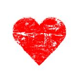 Abstract bright red heart. Abstract bright red love symbol on white background Royalty Free Stock Photo