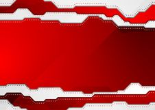 Abstract bright red hi-tech vector background Stock Photography