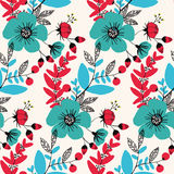 Abstract bright seamless pattern with floral background.  Royalty Free Stock Photos