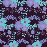 Abstract bright seamless pattern with floral background.  Royalty Free Stock Photography