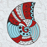 Abstract Bright Shell on  Seamless   Pattern Royalty Free Stock Images