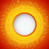 Abstract bright shining background with circle banner. Vector illustration Stock Photography
