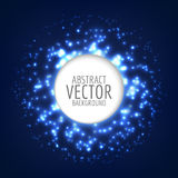 Abstract bright shining sphere. Vector light background. Circle shape with sparkles. Stock Images