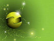 Abstract bright sphere background. EPS 10 Vector Royalty Free Illustration