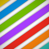 Abstract bright stripes on a white background.  Royalty Free Stock Image