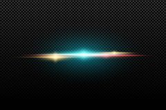 Abstract bright stylish light effect on a transparent background. Multicolored flares. Colorful flash. Vector illustration. EPS 10 vector illustration